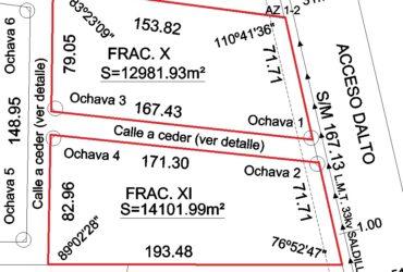 Lotes En Acceso Dalto De Roque Perez, Sobre Asfalto 13000 M2 y 14000 m2